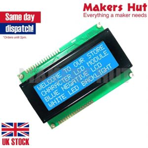 Standard 20X4 204 2004 Character LCD Module Display Screen LCM (White on Blue)