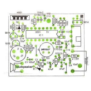 Infrared Electronic Alarm Kit Electronic DIY Learning Kit
