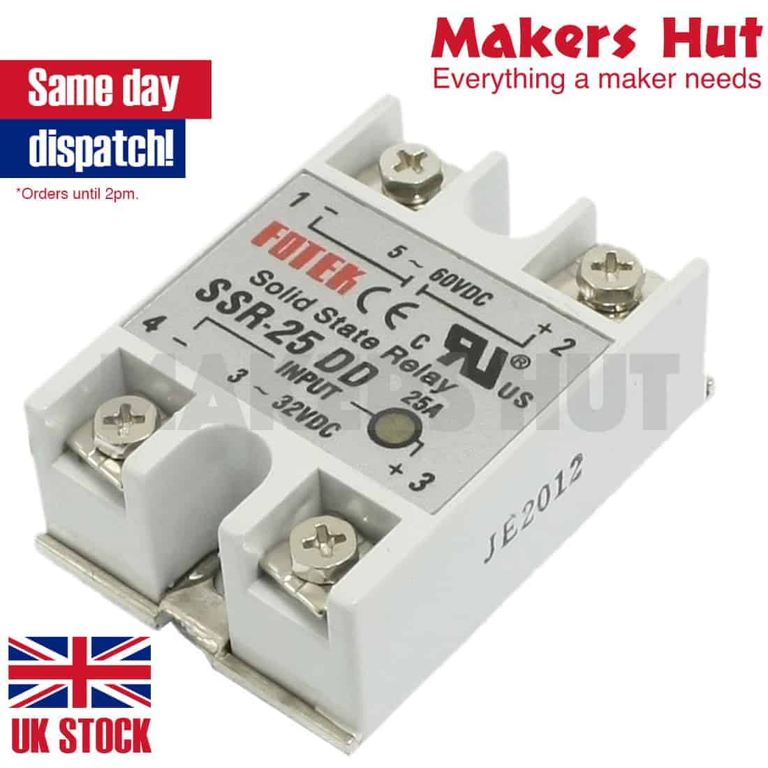 SSR25DD DC-DC Solid State Relay for Heated Bed Heater 1