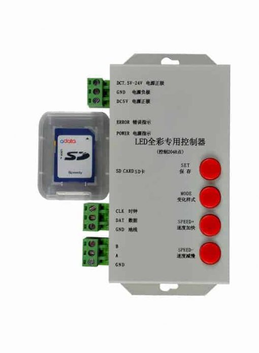 T-1000S RGB LED Pixel Controller SD Card -WS2812 LPD8806 WS2811 WS2801 T1000S