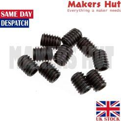 10x Grub Screw Pack Set – M3x5mm M4x5mm M3 M4 Pulley Reprap CNC