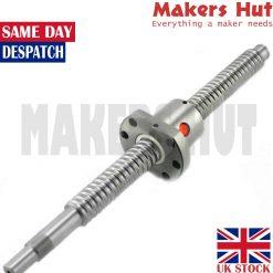 SFU1204 & SFU1605 Ballscrew w/ Nut – Lengths 300 – 500mm – BK/BF End Machined