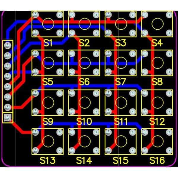 0e8afe7a9e5 4×4 Matrix 16 Keypad Keyboard Module 16 Button MCU TACT Tactile Switch  Arduino 3