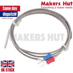 K-type Thermocouple 0-600C - 1M - Extruder - 3d Printer - RepRap - K Type