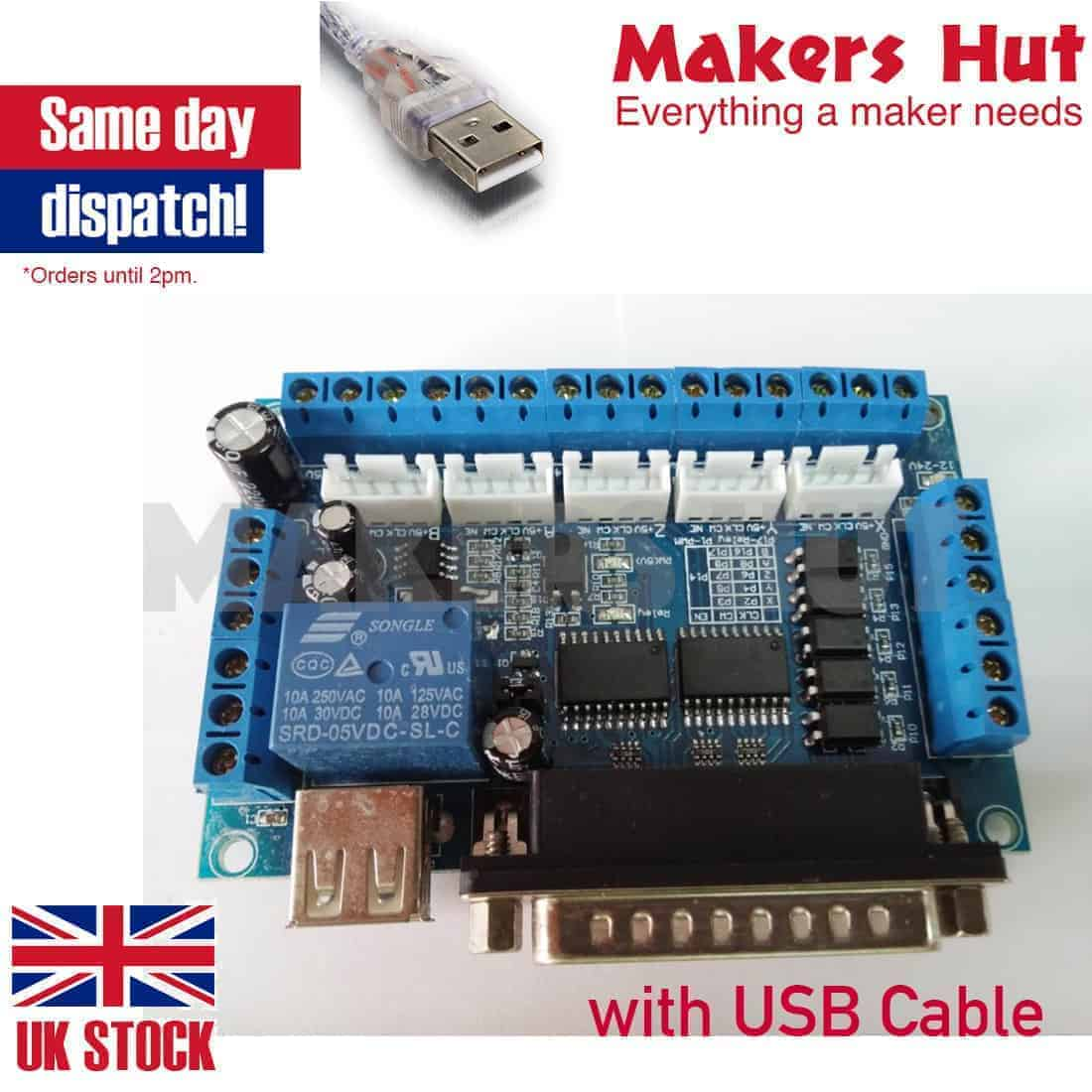 Mach3 5 Axis Cnc Interface Adapter Breakout Board For