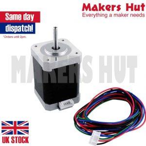 nema 17 bipolar stepper 1 8deg 1 5a 0 65nm 42x42x60mm 4-wires nema17 cnc |  makers hut