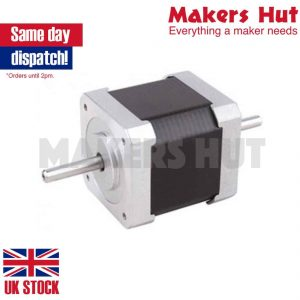 Double Shaft Nema 17 Stepper Motor 1.68A 45Ncm Bipolar 4-wires 3D Pinter DIY CNC