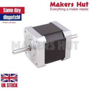 Double Shaft Nema 17 Stepper Motor 1.68A 45Ncm Bipolar 4-wires 3D Pinter DIY CNC