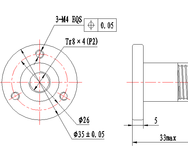 anti backlash nut for tr8x2 tr8x4 tr8x8  u2013 leadscrew  u2013 8mm