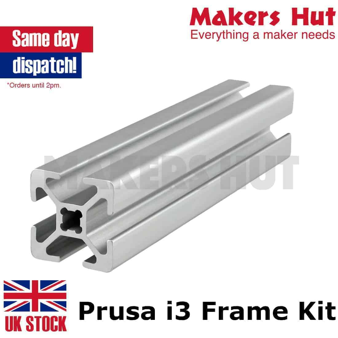 Prusa i3 Rework 2020 Aluminium Extrusion Frame Kit – 3D Printer ...