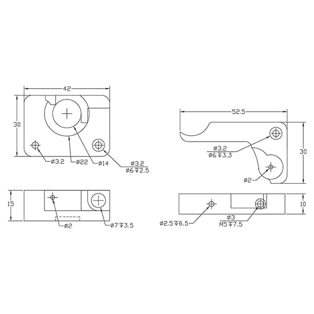 MK10 2nd Generation Extruder Upgrade Kit Aluminum Left or Right 3D Printer