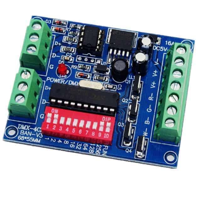 4CH DMX LED Controller RGB DMX512 decoder, 4 Channel DC5V-24  WS-DMX-4CH-BAN-V3