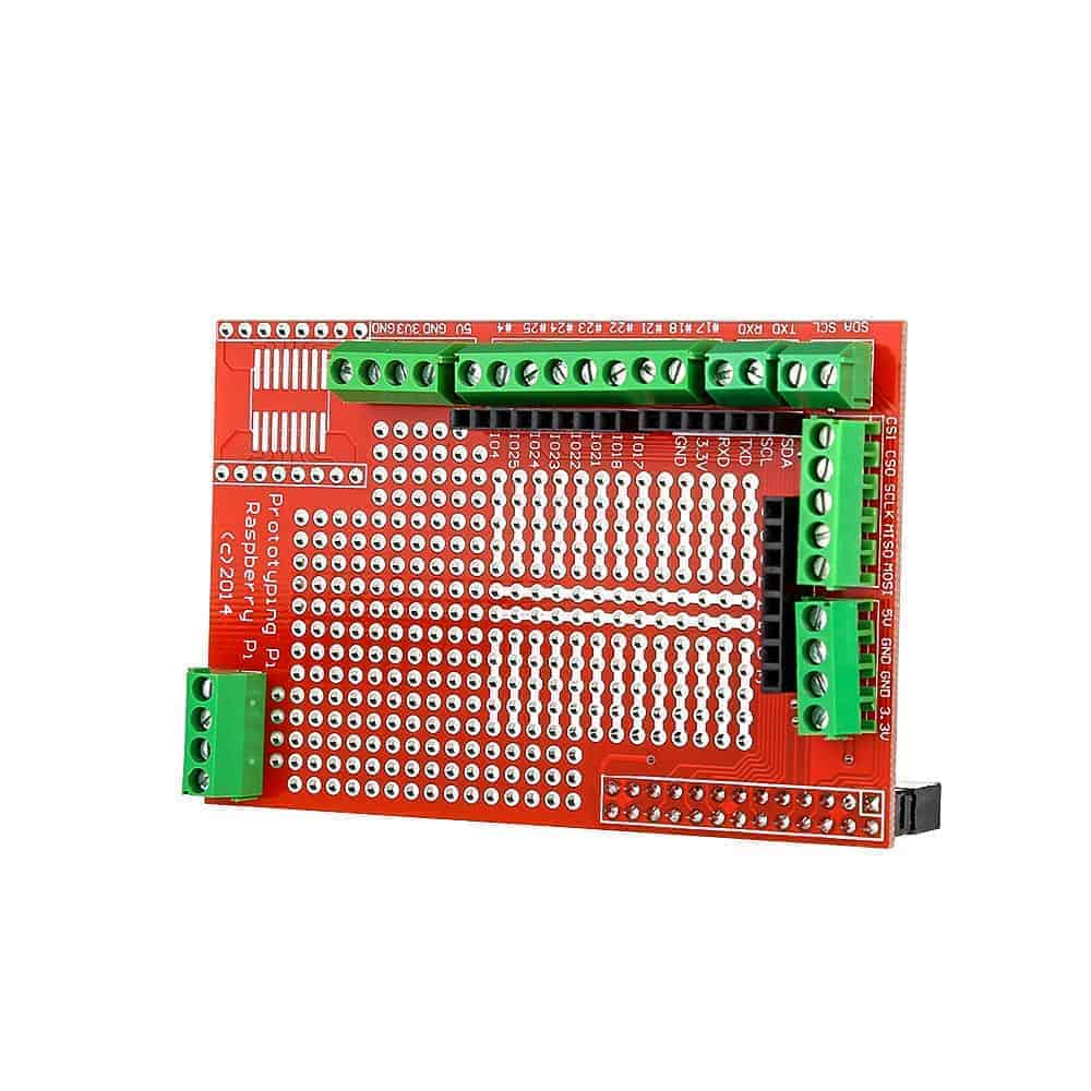 Prototype Shield Expansion Board For Raspberry Pi B Hole Red The Circuit Home