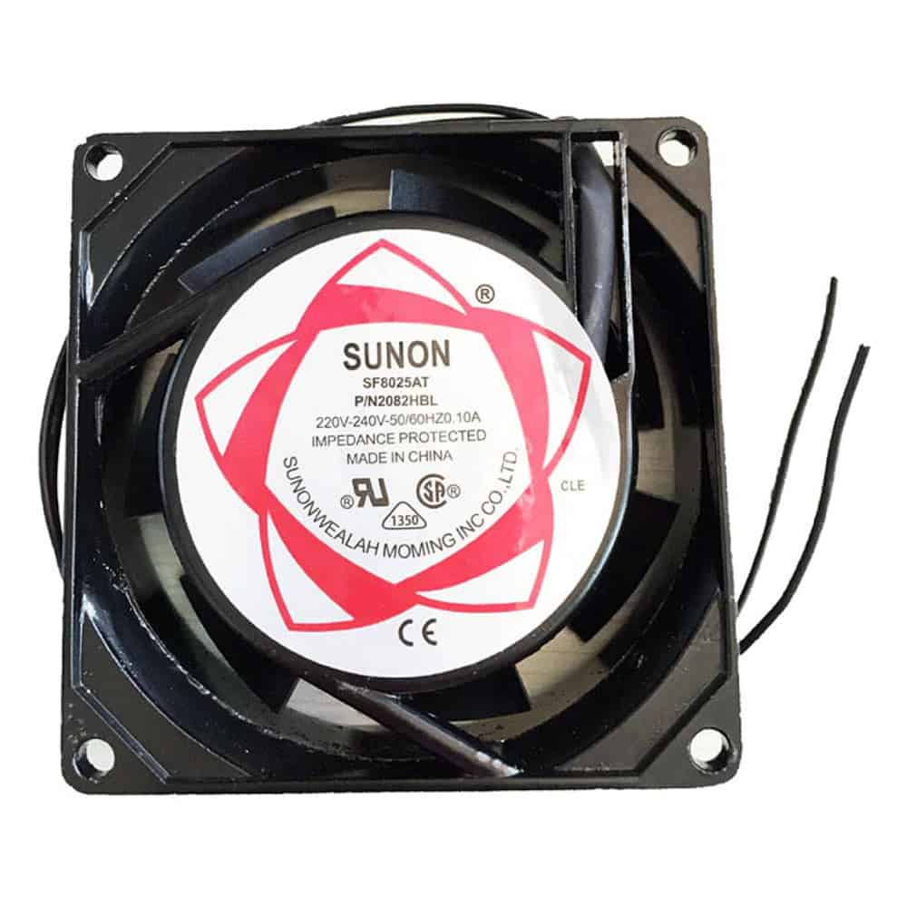 8025 80x80x25mm AC 220V 240V Axial Cooling Fan