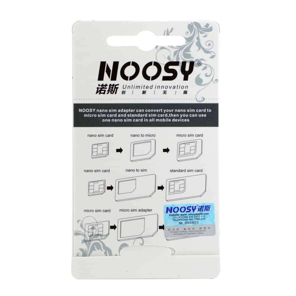 3 x NOOSY- 4 IN 1 Pack Nano To Micro Standard Sim Card Adapter Samsung iPhone | Makers Hut