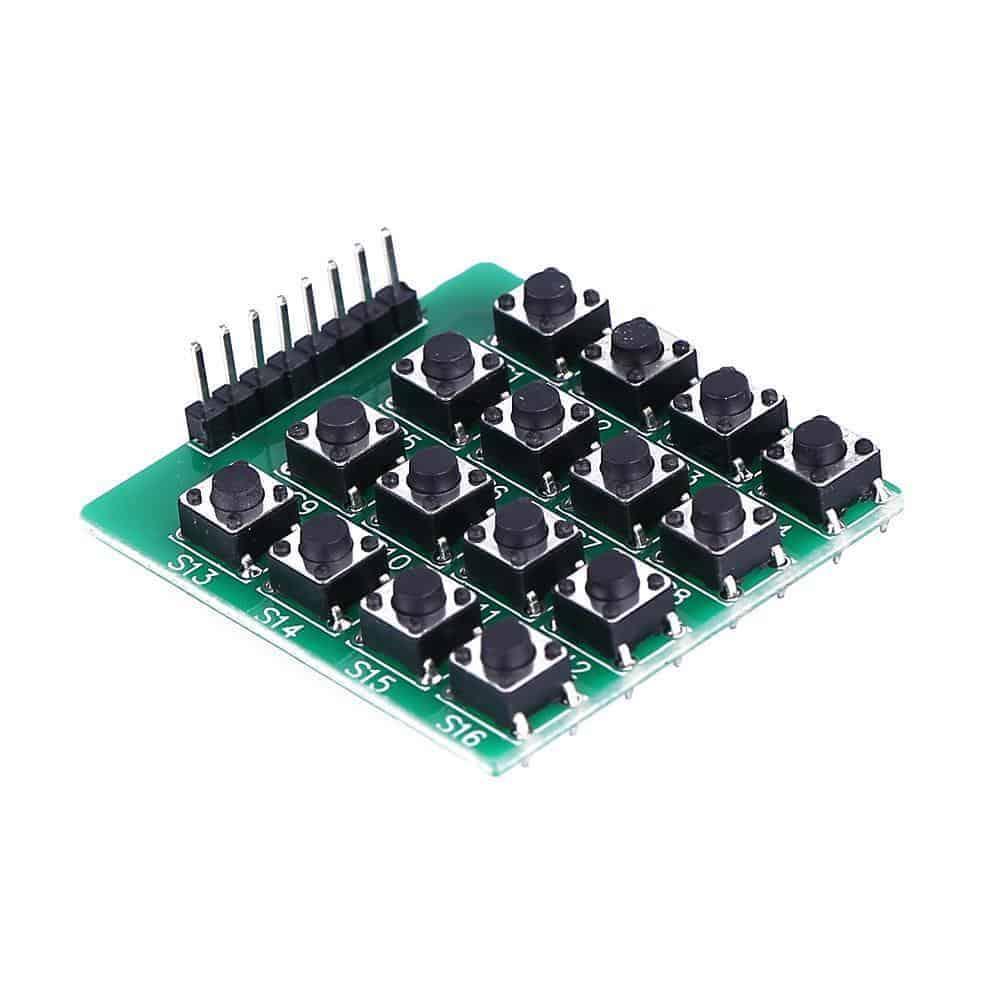 1b1df793554 4×4 Matrix 16 Keypad Keyboard Module 16 Button MCU TACT Tactile ...
