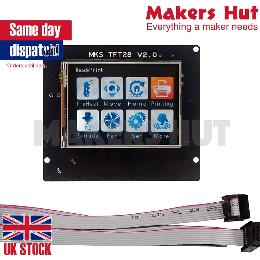 2 8 Inch MKS TFT28 V4 Full Color Touch Screen Support WIFI APP For 3D  Printer