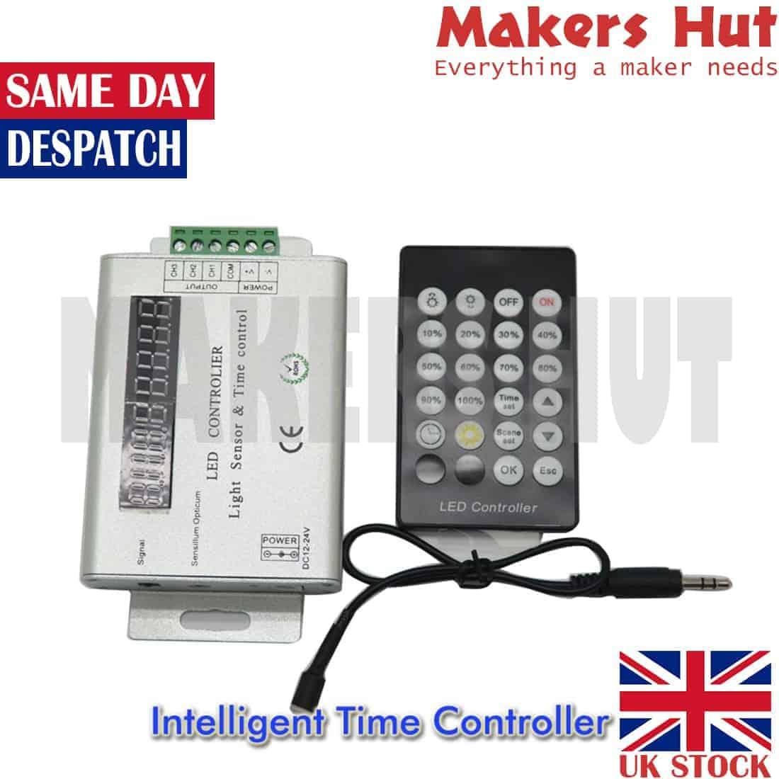 3 Channel 12V/24V Intelligent Light Sensor And Time Programmable Led  Controller