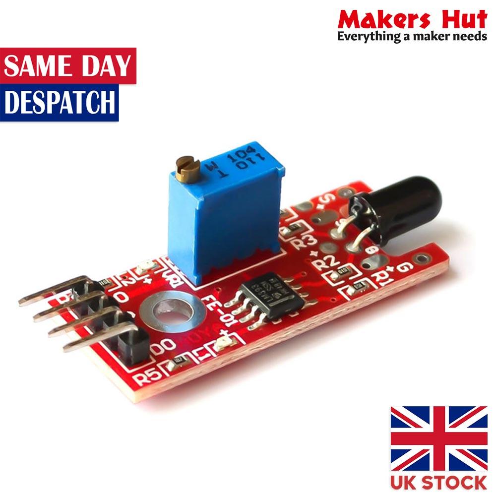 KY-026 Red Plate Flame Sensor Module - Arduino