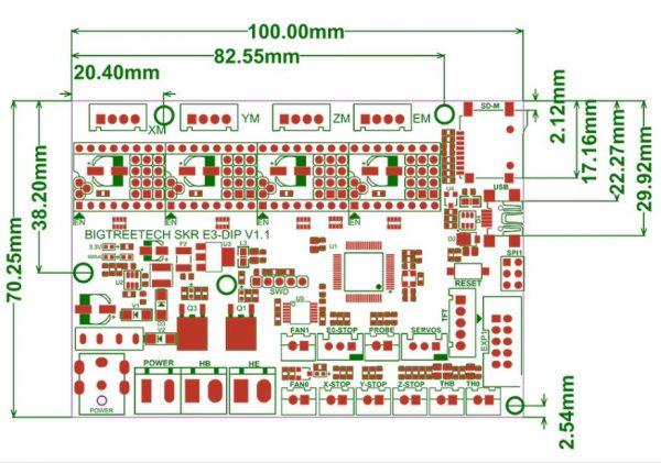 Skr E3 Dip V1 1 32bit Control Board  U2013 Creality Ender 3 Pro 3d Printer Upgrade