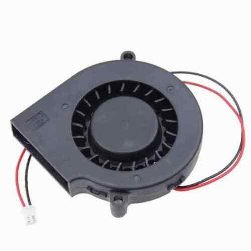 7530 75mm x 30mm Radial Blower Fan 5V 12V 24V DC 2 Pin Cooling Hotend